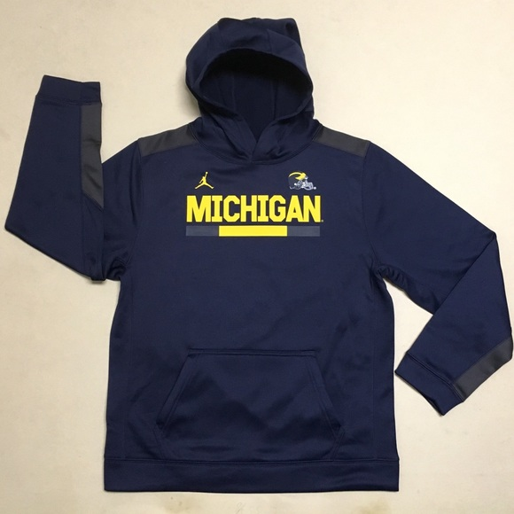 Michigan Jordan Gear >> University Of Michigan Jordan Youth Hoodie